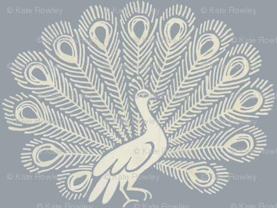 peacock (grey)