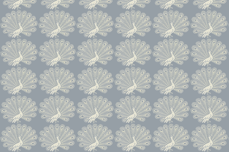 peacock (grey) fabric by kate_rowley on Spoonflower - custom fabric