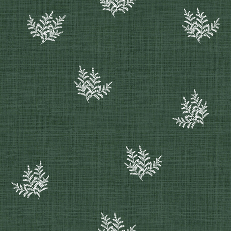 Feathery Fern, Pine Green fabric by thistleandfox on Spoonflower - custom fabric
