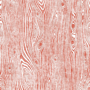 Woodgrain flame orange - driftwood brick red
