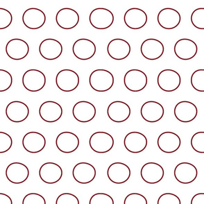 Burgundy Circles Geometric Loops