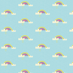 Rainbow and cloud unicorn blue
