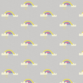 Rainbow and cloud unicorn grey