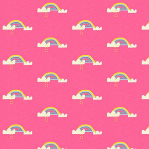 Rainbow and cloud unicorn hot pink