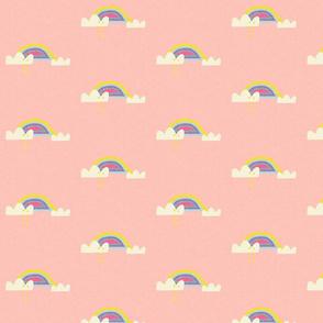 Rainbow and cloud unicorn pink