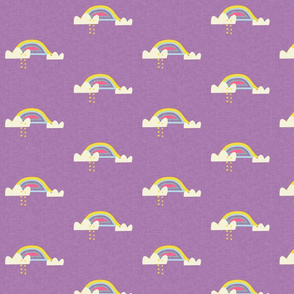 Rainbow and cloud unicorn purple