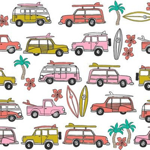 surf trip // vacation surfing road trip california tropical fabric reds