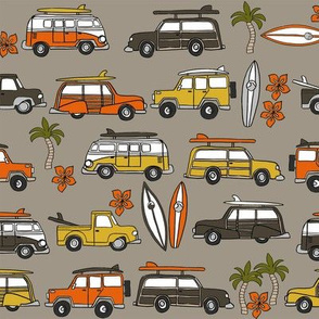surf trip // vacation surfing road trip california tropical fabric dark