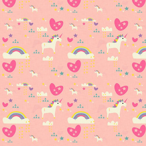 Unicorn wonderland pink