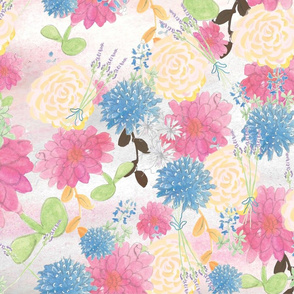 Floral Watercolor Fabric