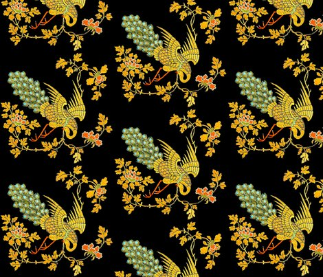 Rspoonflower-gold-crane-flowers_shop_preview