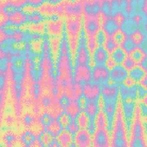 rainbow double zigzag pastel