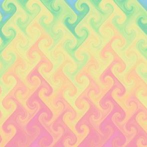 rainbow flame - pastel