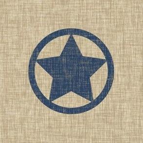 6 inch star - blue