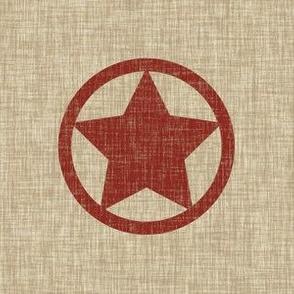6 inch Star - red