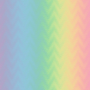 rainbow chevron stripe - pastel