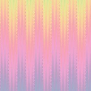 pinked rainbow stripe - pastel
