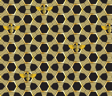 Bee's Knees Art Deco fabric by jpgmarks on Spoonflower - custom fabric