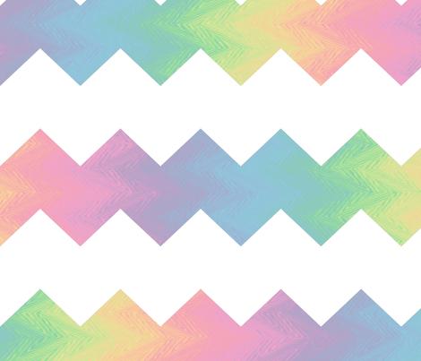 white and pastel rainbow chevron fabric by weavingmajor on Spoonflower - custom fabric