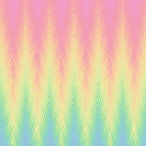 rainbow feathered stripe pastel