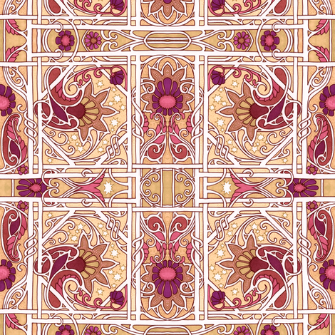 Crisp Autumn Evenings fabric by edsel2084 on Spoonflower - custom fabric