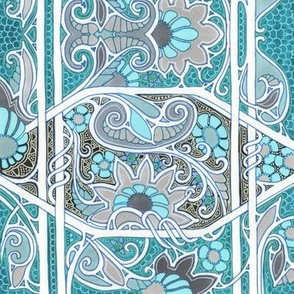 Florally Yours in Teal