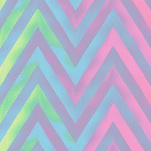 big rainbow zigzag - pastel
