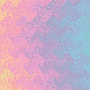 geometric rainbow - pastel