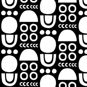Mono Cutouts black background