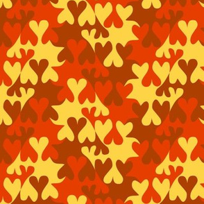 I love Autumn Tessellating Hearts