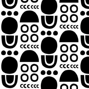 Mono Cutouts white background