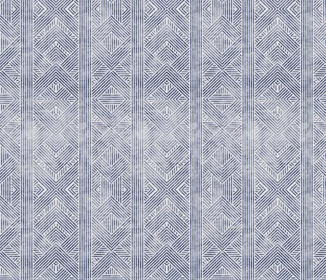 AMAI GEO DENIM fabric by holli_zollinger on Spoonflower - custom fabric