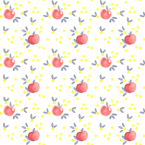 Apple Blossom 4 fabric by petite_salade_designs on Spoonflower - custom fabric