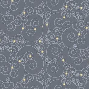 Curled grey