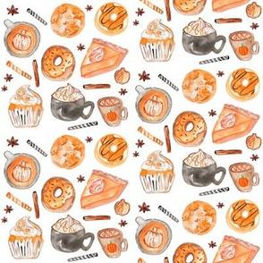 """4"""" Fall Pumpkin Spice // White"""