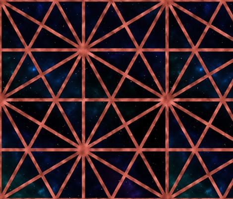 steampunk lattice fabric by vivaeris_designs on Spoonflower - custom fabric