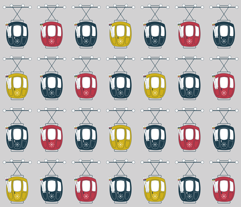 Gondola Grid (Downhill) fabric by brendazapotosky on Spoonflower - custom fabric