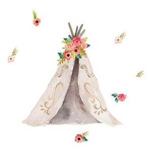 "6"" quilting block for Floral Dreams Teepee"