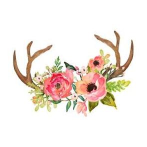 """6"""" floral deer antlers"""