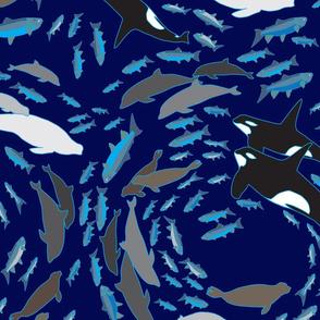 Arctic Oceans Indigo by Cindy Shake