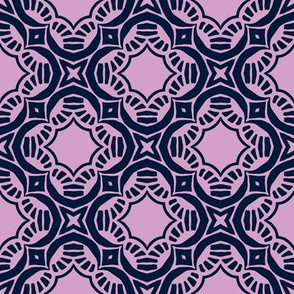 Navy and Orchid Pattern
