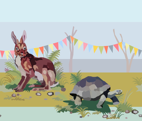 Hase   Schildkrote fabric by design_d´annick on Spoonflower - custom fabric