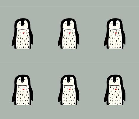 Penguin pillow plushy fabric by andmonstertoys on Spoonflower - custom fabric