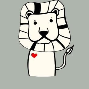 Lion plush pillow