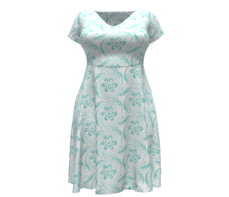 Aqua Daisy Swirls - Large
