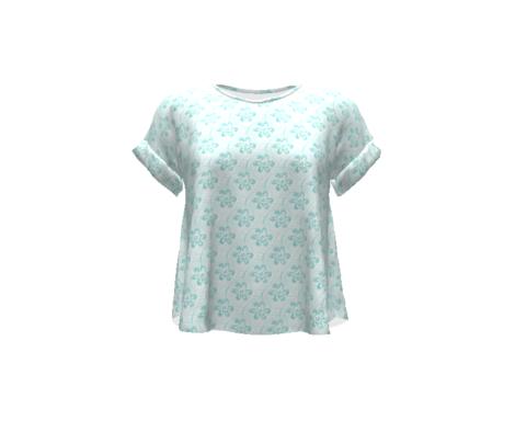 Aqua Daisy Swirls - Medium