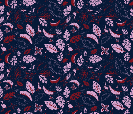 Orchid and Navy - Spoonflower_Feb 2018 - V2 fabric by samantha_faye_designs on Spoonflower - custom fabric