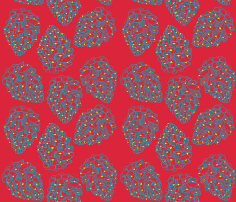 cone line_punch fabric by kheckart on Spoonflower - custom fabric
