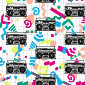 Boom Box (Custom Bright) || 80s 90s retro music rock and roll stereo radio cassettes cassette tape tapes breakdancing grid vintage analog
