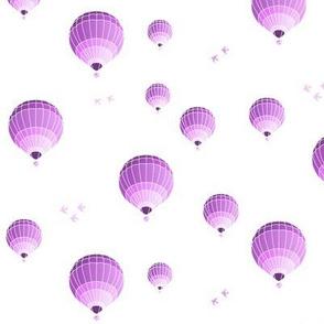 hot-air balloons pink